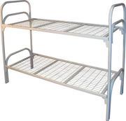 кровати двухъярусные,  одноярусные металлические для армий и общежитий