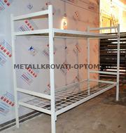 Металлические кровати эконом-класса от производителя,  1ярусные,  2ярусные,  3ярусные оптом,  койки армейские