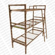 Металлические трехъярусные кровати,  железные кровати для рабочих.