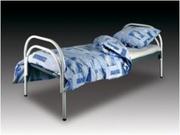 Кровати одноярусные металлические,  кровати металлические двухъярусные