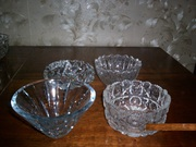 маленькие хрустальные вазочки 6шт.